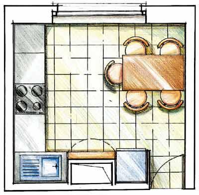 Увеличиваем маленькую кухню: основной фронт работ