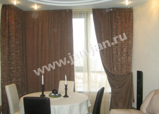 Шторы шоколадного цвета фото: http://photoshouse.ru/yshtoryi-yshokoladnogo-ytsveta-foto.html