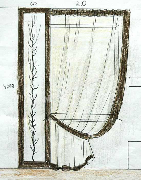 Эскизы штор для спальни фото